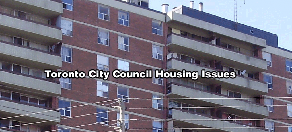 Toronto City Council Housing Issues
