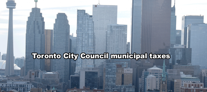 Toronto City Council municipal taxes